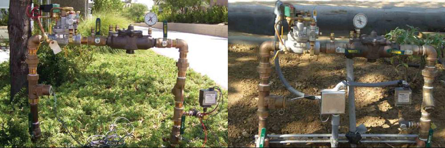 Point of connection to irrigation mainline where backflow prevention is set-up