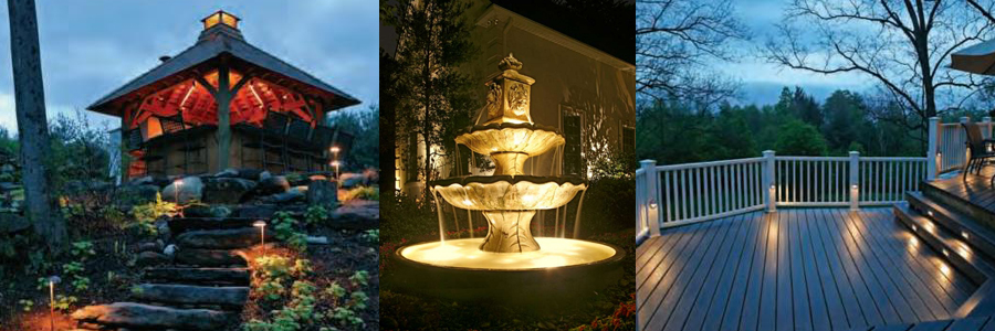 Vista low-voltage lighting applications - yard, fountain, and patio lighting