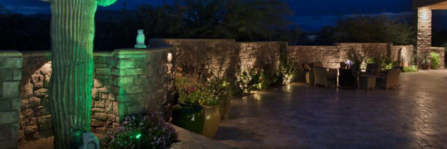 landscape lighting creating textured shadows & Paradise Garden Lighting azcodes.com