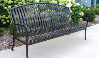 Paris premier style rounded bench